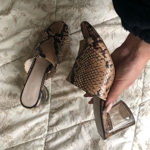 Zara Snake Skin Mules